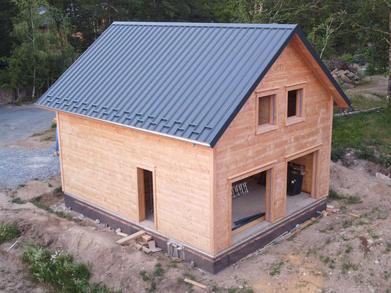 Construction d'une maison ossature bois par RSP Bois en Aveyron