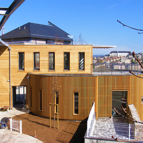 Bardage d'une maison en bois par RSP Bois en Aveyron